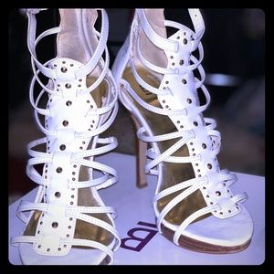 White star studded heels.